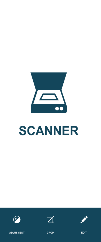 blue document scanner for image editing tool in cut and paste photo editor