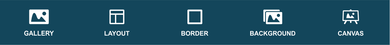 border tool featuring five border effects layout for user preference in cut and paste app