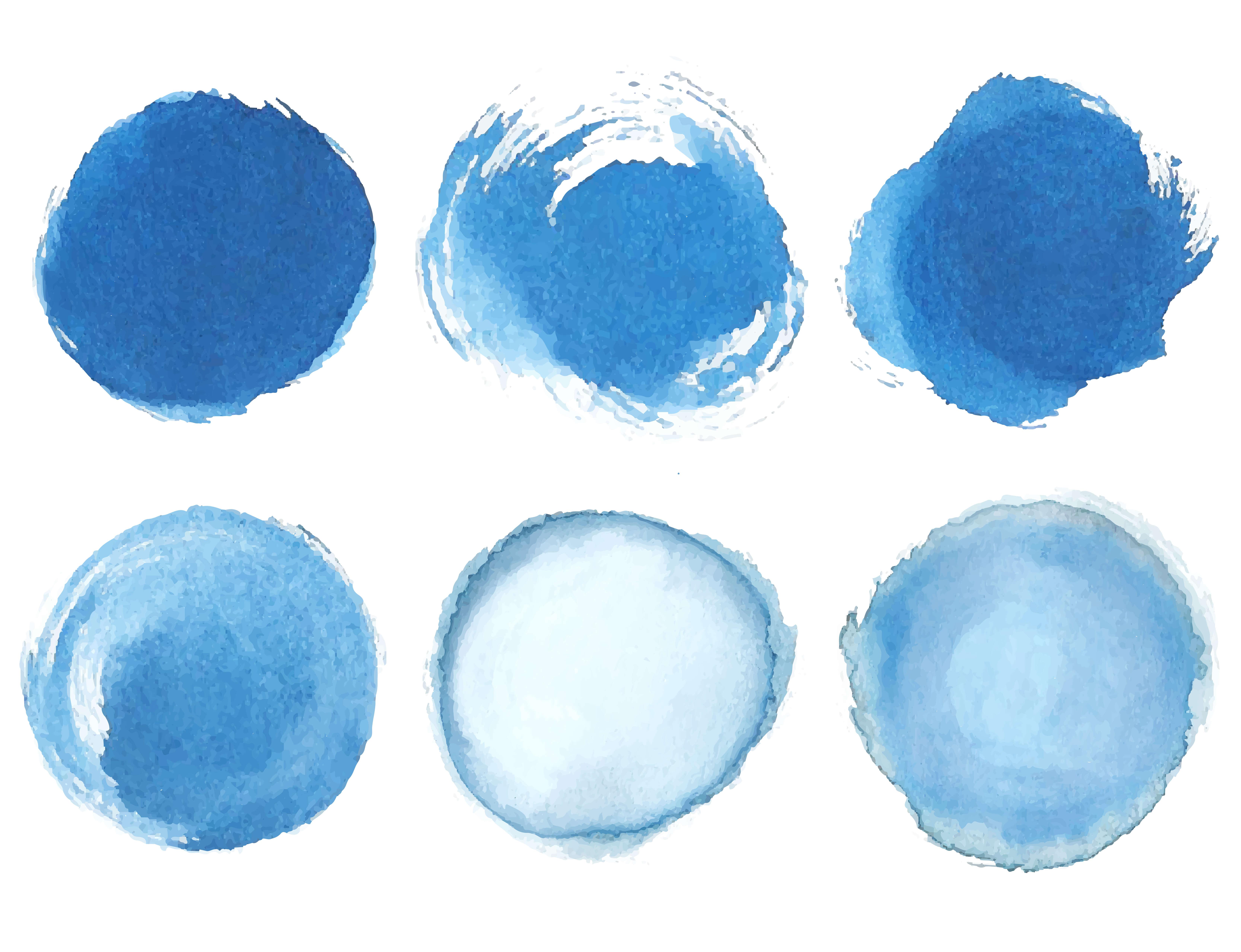 blue watercolor circles - cut an image into a circle